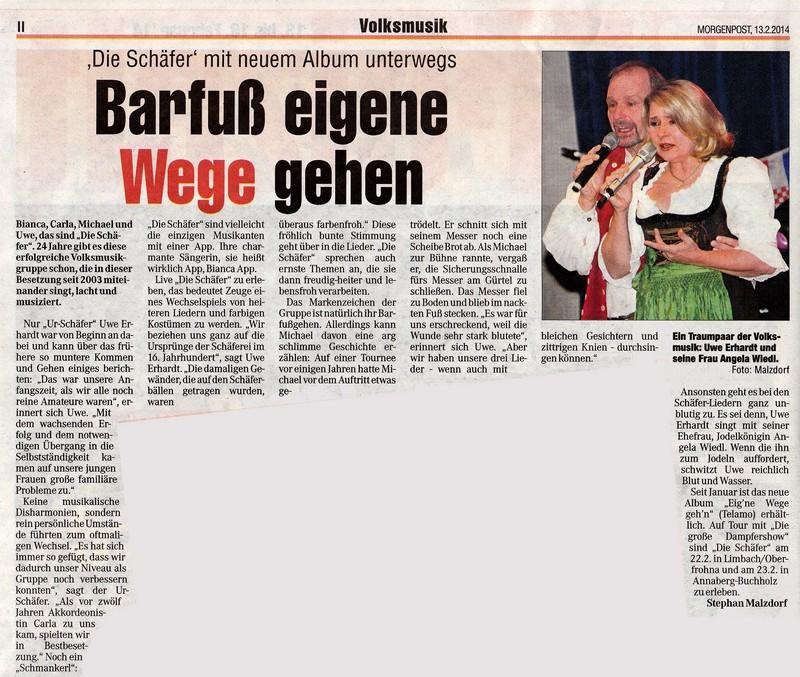 Zeitungsartikel aus der Morgenpost