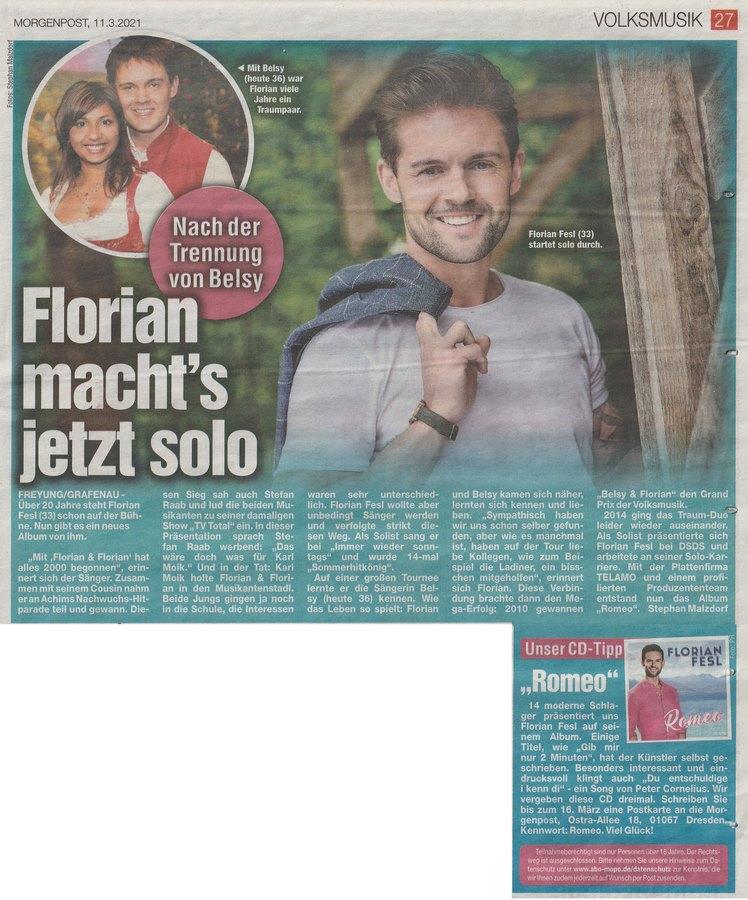 Florian trennung und belsy Wer ist